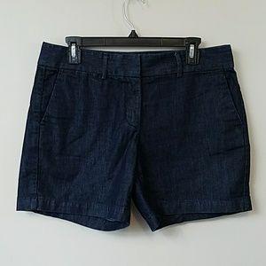 Ann Taylor LOFT The Riviera Dark Denim Shorts